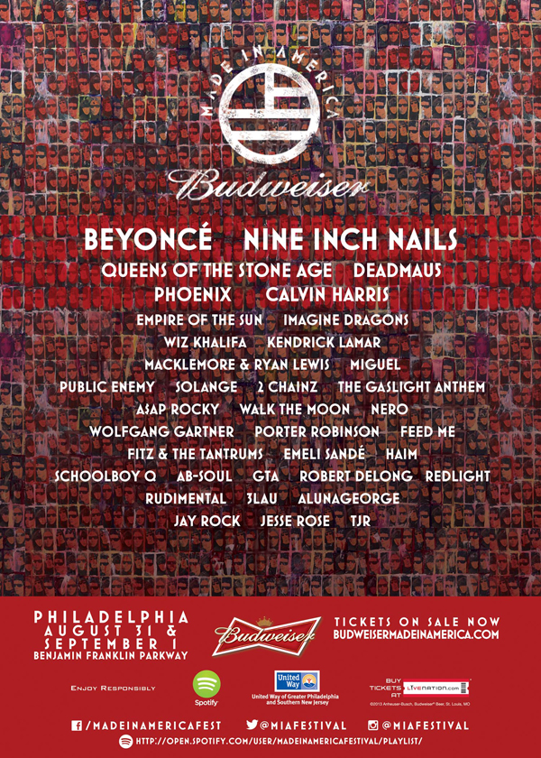 The-2013-Budweiser-Made-In-America-Festival-Lineup