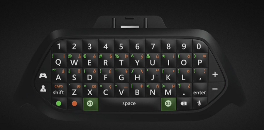 Here comes the Xbox one Chatpad (qwerty Keyboard)
